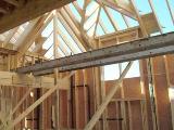 стропильная система вальмовой четырехскатной крыши.