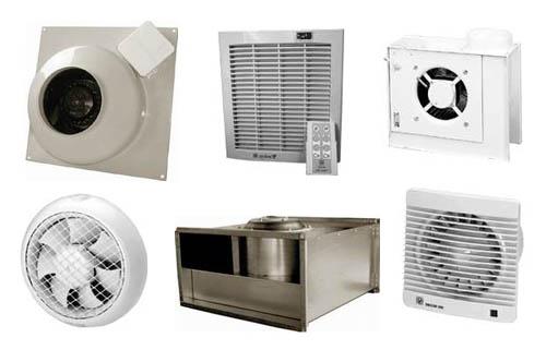 Разные виды вентиляторов
