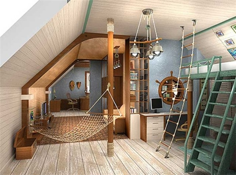 Канаты, веревки и лестницы