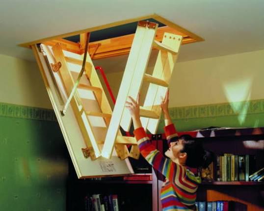 люк с лестницей на чердак складной
