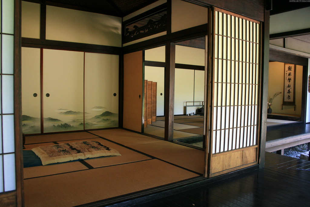 Японский стиль на мансарде