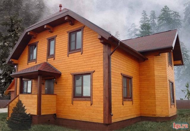 Типичный дом с полумансардой