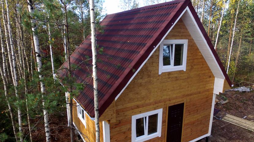 Андулиновая крыша (фото домов)
