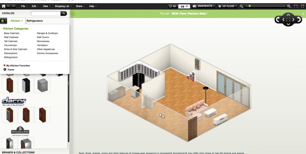 Скриншот программы Homestyler